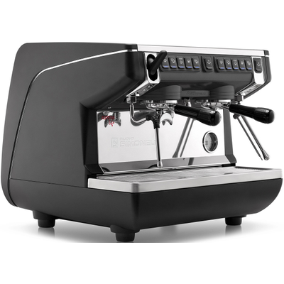 Кофемашина-автомат Nuova Simonelli Appia Life Compact 2Gr V 220V black+economizer+Easy Cream+high groups