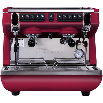 Кофемашина-автомат Nuova Simonelli Appia Life Compact 2Gr V 220V red+economizer+high groups