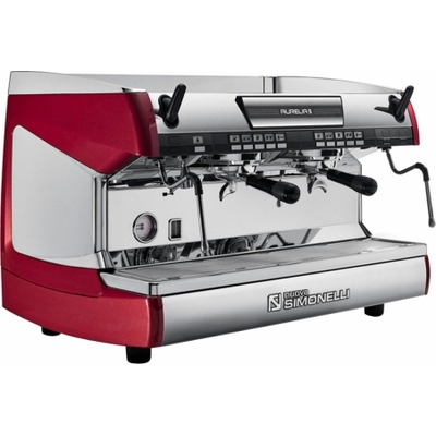 Кофемашина-автомат Nuova Simonelli Aurelia II 2Gr V 220V red+LED+high groups