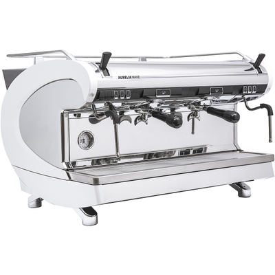 Кофемашина-полуавтомат Nuova Simonelli Aurelia Wave 2Gr S 220V pearl white+high groups+LED